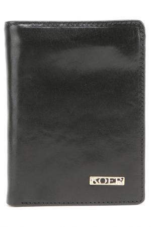 Бумажник KOFR. Цвет: черный