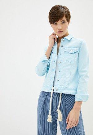 Куртка джинсовая United Colors of Benetton. Цвет: голубой