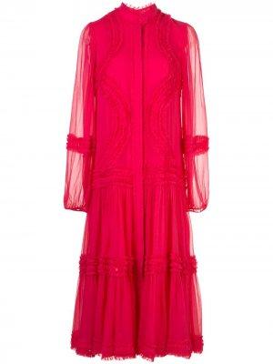 Платье миди Patrizia Alexis. Цвет: розовый