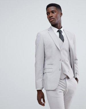 Приталенный пиджак -Бежевый French Connection