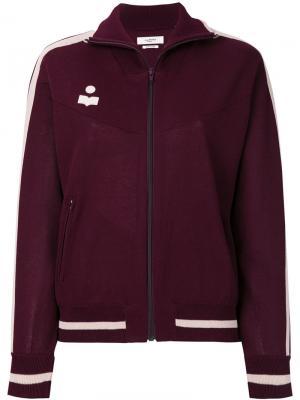 Zipped logo bomber jacket Isabel Marant Étoile. Цвет: красный