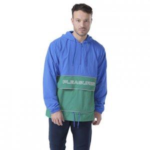 Анорак x PLEASURES Reebok. Цвет: vital blue/pine green