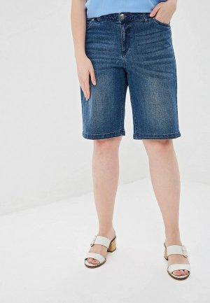 Шорты джинсовые Junarose. Цвет: синий