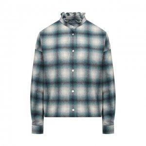 Шерстяная рубашка Isabel Marant Etoile. Цвет: зелёный