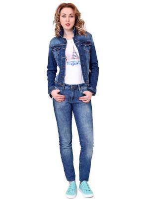 Куртка джинсовая F5. Цвет: синий