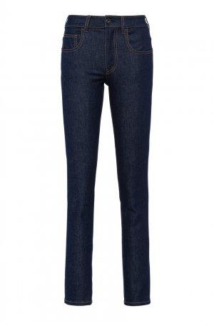 Темно-синие джинсы скинни Prada. Цвет: синий