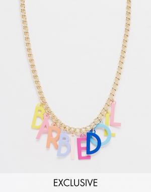 Ожерелье Doll Letter Barbie. Цвет: золотой