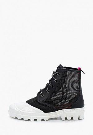 Ботинки My Grey. Цвет: черный