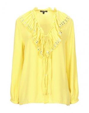 Pубашка DENNY ROSE. Цвет: желтый