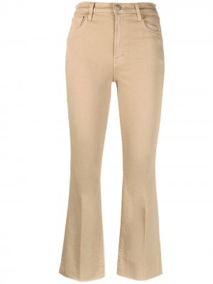 Укороченные расклешенные брюки J Brand. Цвет: нейтральные цвета