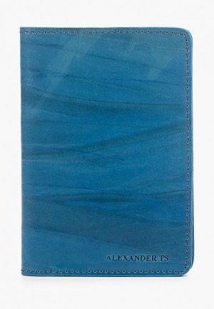 Обложка для паспорта Alexander Tsiselsky. Цвет: синий