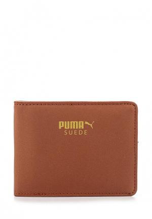 Кошелек Puma Suede Billfold Wallet. Цвет: коричневый