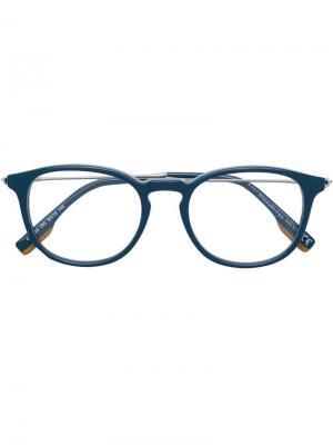 Classic round glasses Ermenegildo Zegna. Цвет: синий