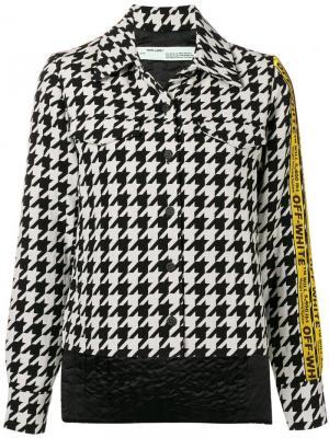 Куртка в ломаную клетку Off-White. Цвет: черный