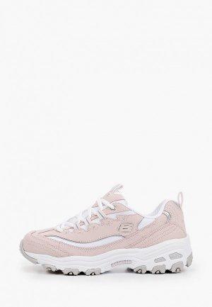 Кроссовки Skechers DLITES. Цвет: розовый
