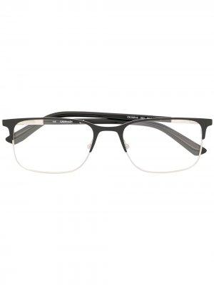 Очки в квадратной оправе Calvin Klein. Цвет: черный