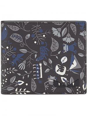 Printed wallet Fendi. Цвет: чёрный