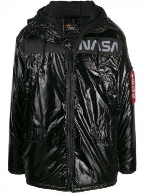 Пуховик NASA Alpha Industries. Цвет: черный