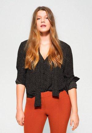 Блуза Violeta by Mango - MACROP6. Цвет: черный
