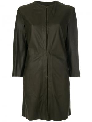 Пальто без воротника Drome. Цвет: зелёный