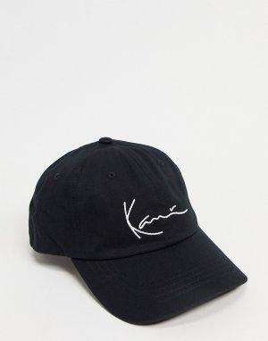 Черная кепка с логотипом -Черный цвет Karl Kani