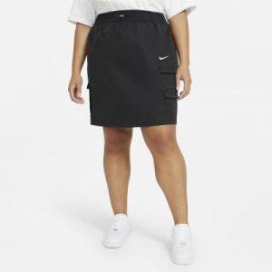 Юбка Nike Sportswear Swoosh (большие размеры) - Черный