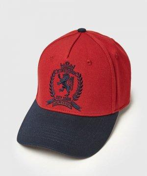 Кепка с вышивкой O`Stin. Цвет: красный