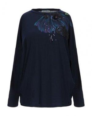 Блузка ANGELO MARANI. Цвет: темно-синий