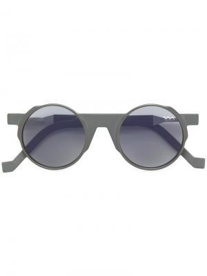 Солнцезащитные очки с круглой оправой Vava. Цвет: серый