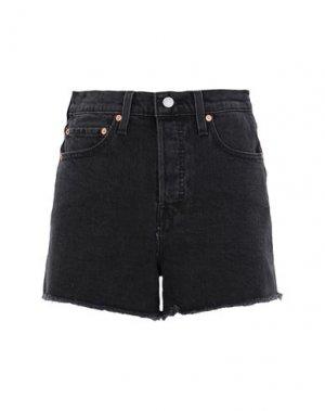 Джинсовые шорты LEVI' S. Цвет: черный