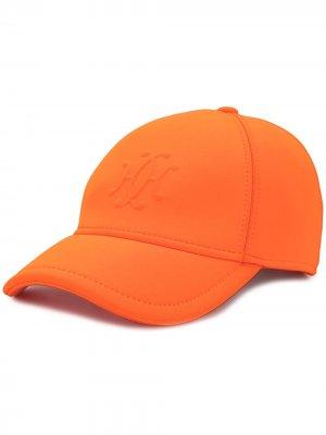 Бейсболка pre-owned с логотипом Hermès. Цвет: оранжевый