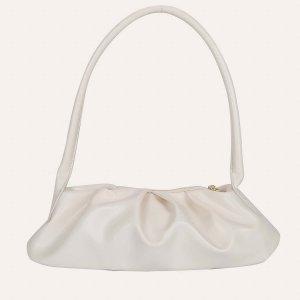 Минималистская большая сумка на молнии SHEIN. Цвет: белый