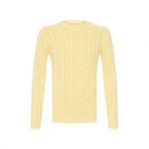 Хлопковый свитер Daniele Fiesoli. Цвет: жёлтый