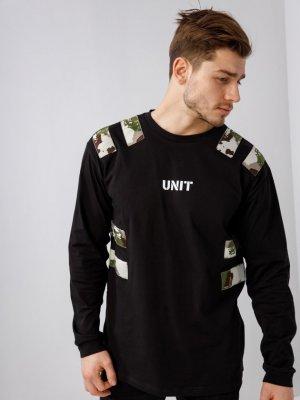 Лонгслив UNIT Black Star Wear. Цвет: черный