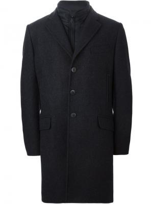 Пальто со съемным жилетом Fay. Цвет: синий