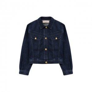 Джинсовая куртка Alberta Ferretti junior. Цвет: синий