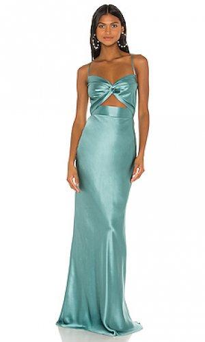 Вечернее платье с вырезом twist Michelle Mason. Цвет: синий