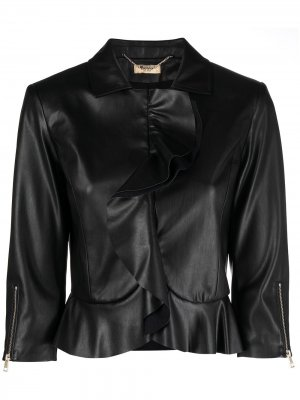 Жакет с оборками и рукавами три четверти LIU JO. Цвет: черный