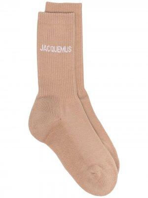 Носки с логотипом Jacquemus. Цвет: коричневый