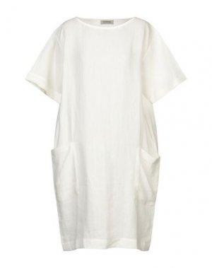 Платье до колена BIONEUMA NATURAL FASHION. Цвет: белый