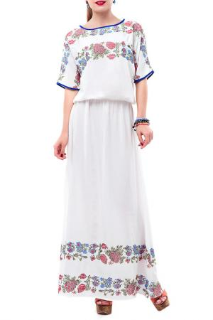 Платье LEBBEL. Цвет: белый