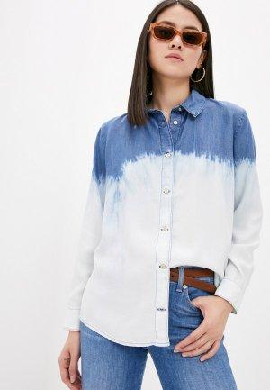 Рубашка джинсовая 7 For All Mankind. Цвет: голубой