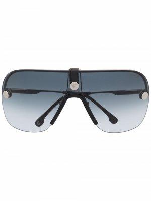 Солнцезащитные очки в безободковой оправе Carrera. Цвет: серебристый