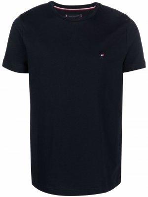 Logo cotton T-shirt Tommy Hilfiger. Цвет: синий