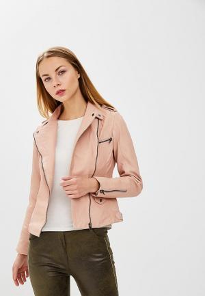 Куртка кожаная Naf. Цвет: розовый