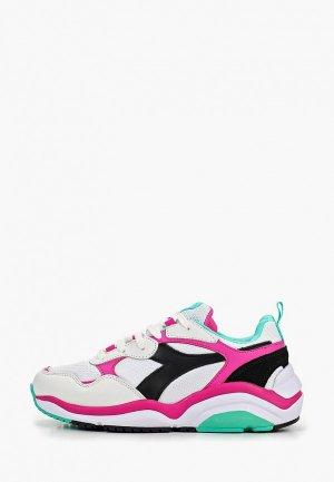 Кроссовки Diadora WHIZZ RUN. Цвет: белый