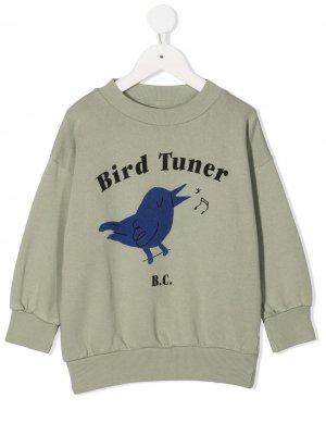 Толстовка Bird Tuner с круглым вырезом Bobo Choses. Цвет: зеленый