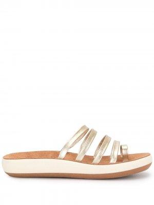 Сандалии Niki с эффектом металлик Ancient Greek Sandals. Цвет: золотистый