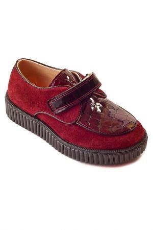 Ботиночки WOOPY. Цвет: красный