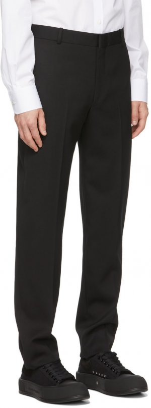 Black Sustainable Cavalry Twill Trousers Alexander McQueen. Цвет: 1000 black